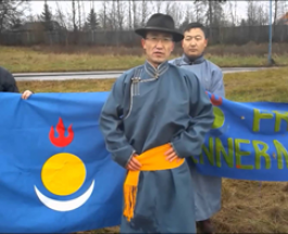 Southern Mongolians in Sweden protest against chinese government 2014-12-10